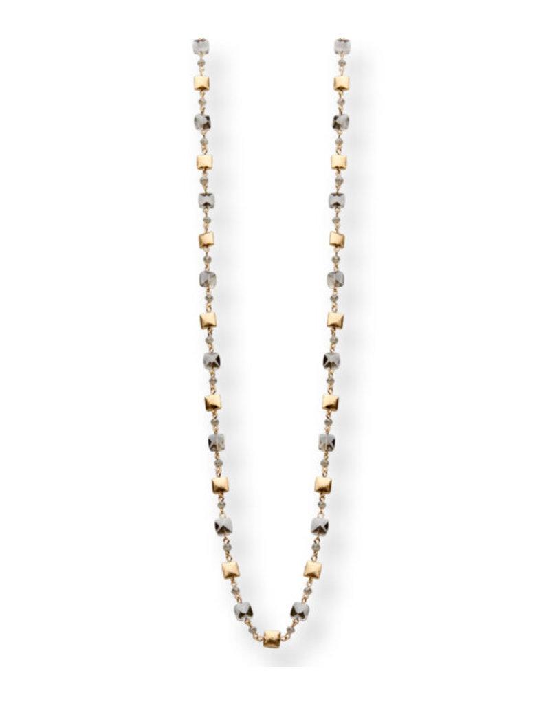 Les Cordes LC Pan43 Lang collier Grijs/Goud