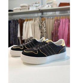 moow Zwarte sneaker met goud