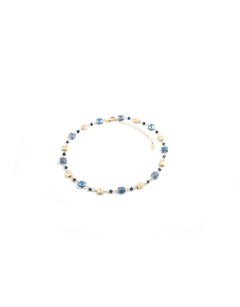 Les Cordes LC PAN43 collier Blauw