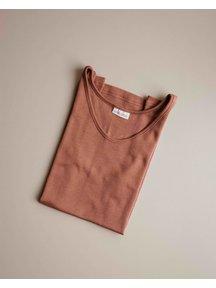 Unaduna Women's sleeveless shirt - sienna clay