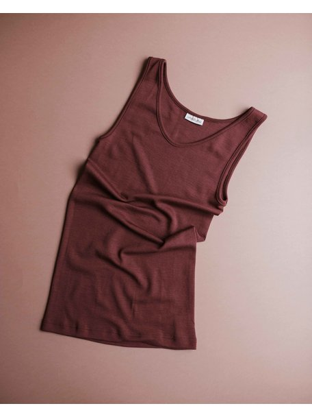 Unaduna Women's sleeveless shirt - henna dune