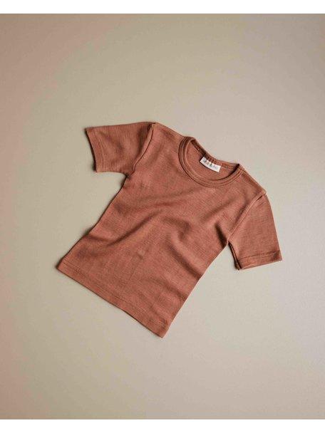 Unaduna Kids shirt short sleeve - sienna clay