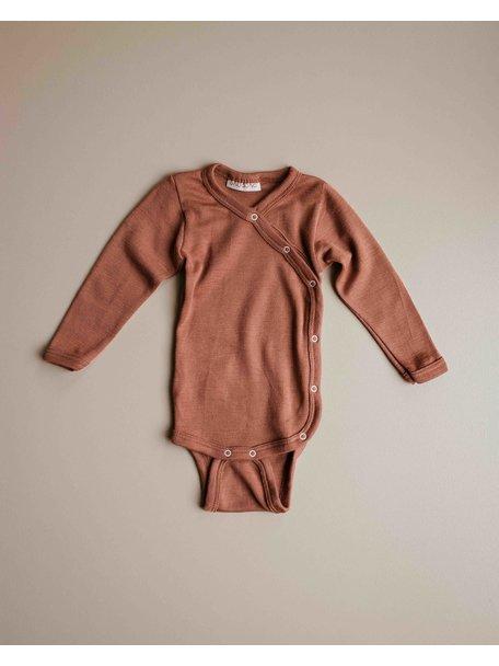 Unaduna Baby wrap-around body  - sienna clay