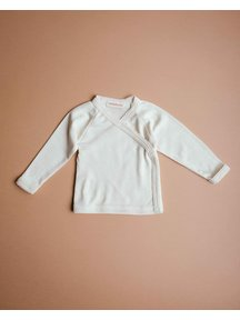 Unaduna Baby wrap-around shirt with crochet edge