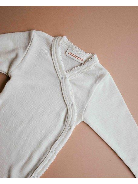 Unaduna Wrap-around baby body with crochet edge