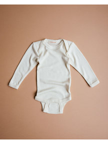 Unaduna Romper long sleeves with crochet edge