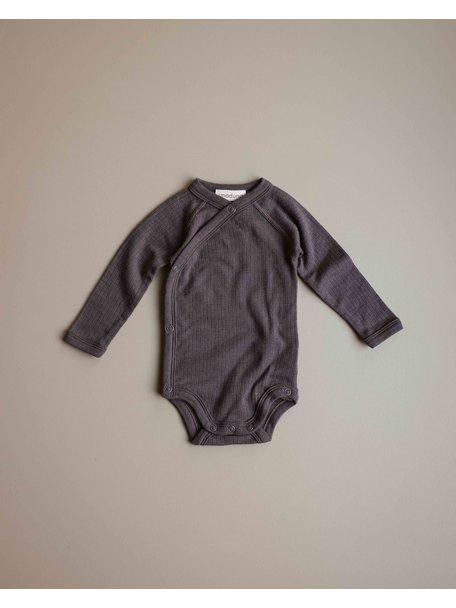 Unaduna Baby wrap-around body - deep taupe