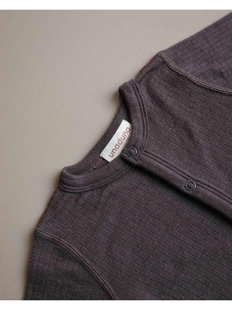 Unaduna  Jumpsuit of wool - deep taupe