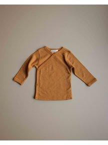 Unaduna Baby wrap-around shirt - inca gold