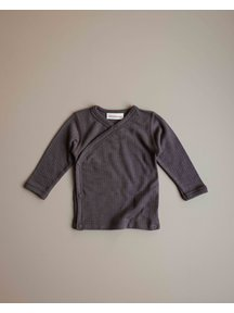 Unaduna Baby wrap-around shirt - deep taupe