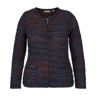 outlet Vest Blauw Cognac Rabe 45-023529
