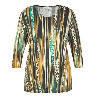 outlet Shirt Groen met print KJBrand 15629/4074