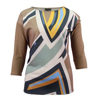 outlet Shirt met print en glitter Barbara Lebek 17580002
