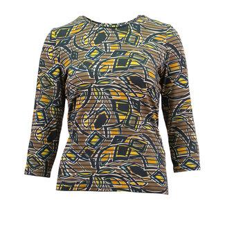outlet Shirt Gestreept met print Barbara Lebek 17560002