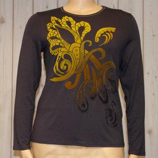 outlet Shirt Grijs met opdruk Barbara Lebek 17670002