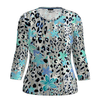 Barbara Lebek Shirt grijs/blauw 75330012 Barbara Lebek