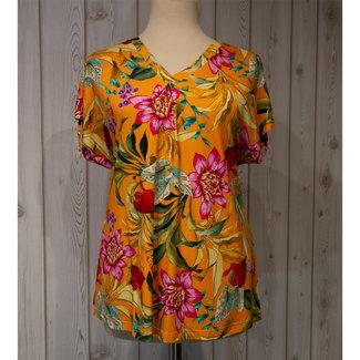 SeeYou Shirt oranje gebloemd D77852/556 SeeYou