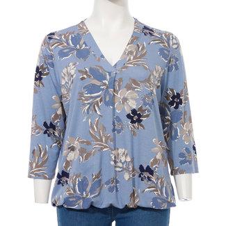 Via Appia Due Shirt print V-hals 811241 Via Appia Due