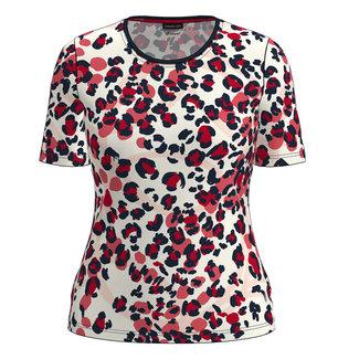 Barbara Lebek Shirt Leopard rood 76020012 Barbara Lebek