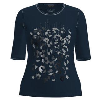 Barbara Lebek Shirt print D.blauw 76060012 Barbara Lebek
