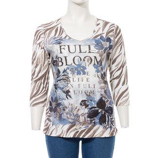 Via Appia Due Shirt print V-hals 811226 Via Appia Due