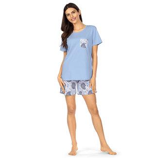 Comtessa Pyjama korte broek blauw 211303 Comtessa