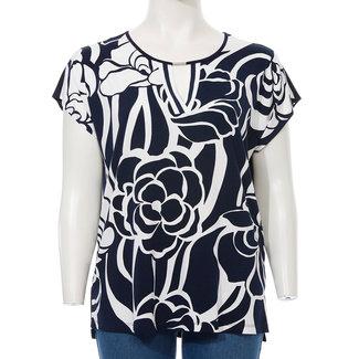 Via Appia Due Shirt print D.blauw/wit 611 886 Via Appia Due