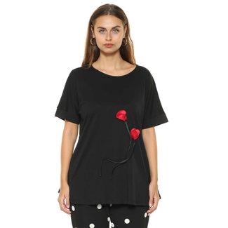 Sophia Curvy Shirt rode roos Sophia Curvy