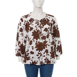 Via Appia Due Shirt gebloemd bruin 621 782 Via Appia Due