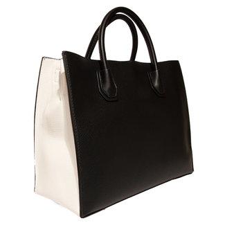 Handtas zwart wit
