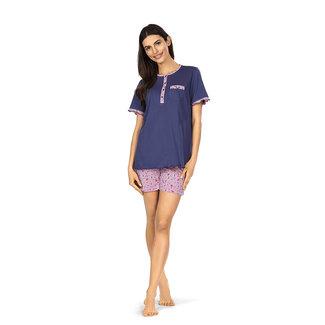 Comtessa Pyjama kort broek blauw 211333 Comtessa