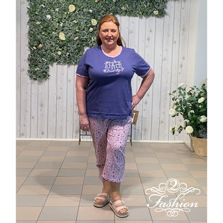 Comtessa Pyjama Comtessa broek 7/8 blauw 211332