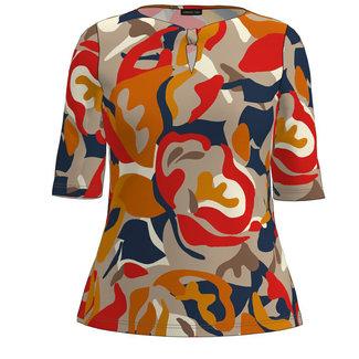 Barbara Lebek Shirt print rood/oranje 77490012 Barbara Lebek