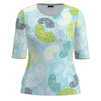 Barbara Lebek Shirt print L.blauw/groen 78030012 Barbara Lebek