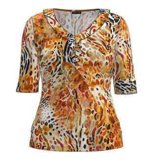 Barbara Lebek Shirt print beige/oranje 77600012 Barbara Lebek