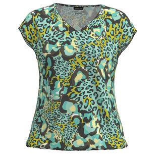Barbara Lebek Shirt groen leopard 78110012 Barbara Lebek