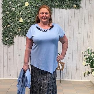 Dorisstreich Shirt L.blauw 570270 Dorisstreich