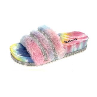 Huismerk Slippers regenboog