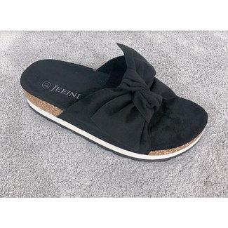 Huismerk Slippers zwart
