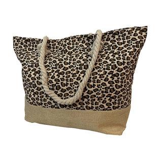 Huismerk Strandtas leopard