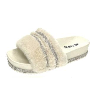 Huismerk Slippers pels ecru