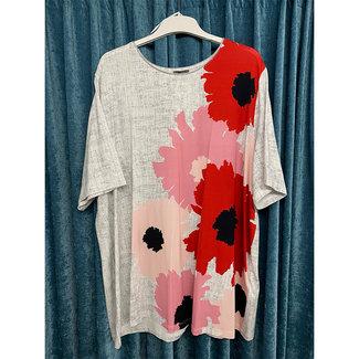 outlet Shirt gemeleerd 272024-26219 Samoon