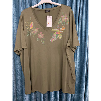 outlet Shirt Kaki 829421 Via Appia Due
