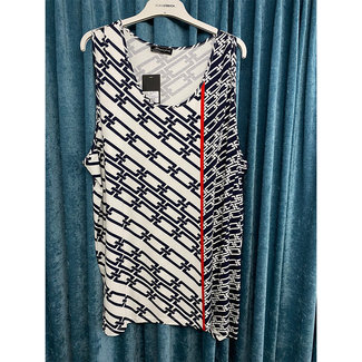 outlet Top Donkerblauw Sempre Piu S2838