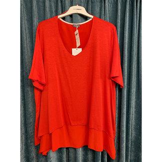 outlet Shirt rood 471400-29141 Samoon