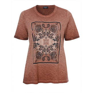 Via Appia Due Shirt bruin print 841251 Via Appia Due