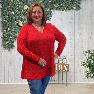 KJBrand Shirt print rood KJBrand 15571