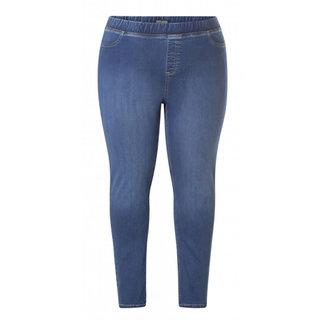 Base Level Curvy by Yesta Broek jeans Tessa mid blauw 7000008 Base Level