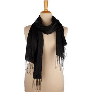 Huismerk Sjaal zwart 001