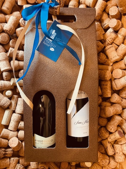 Geschenkverpakking Prosecco + Barbera d'Asti San Nicolao
